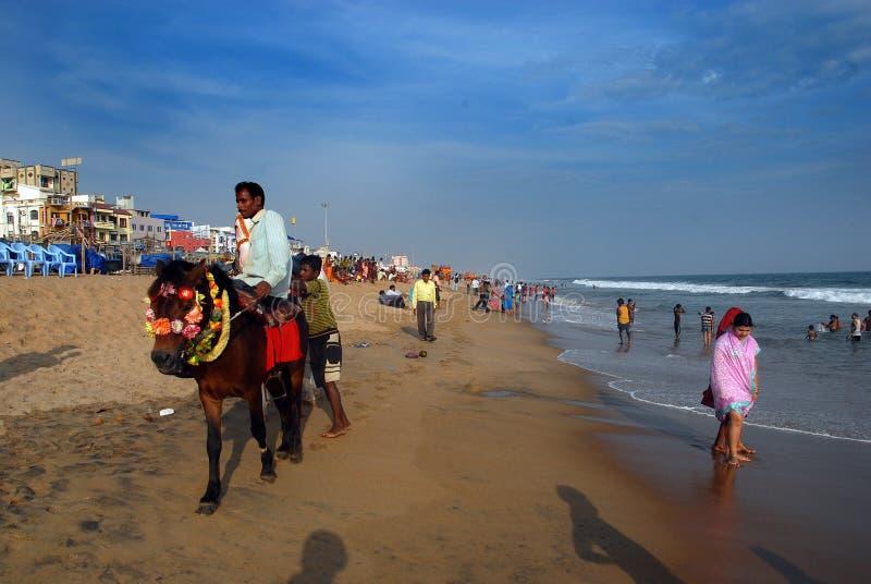 Indisk havsstrand arkivfoton