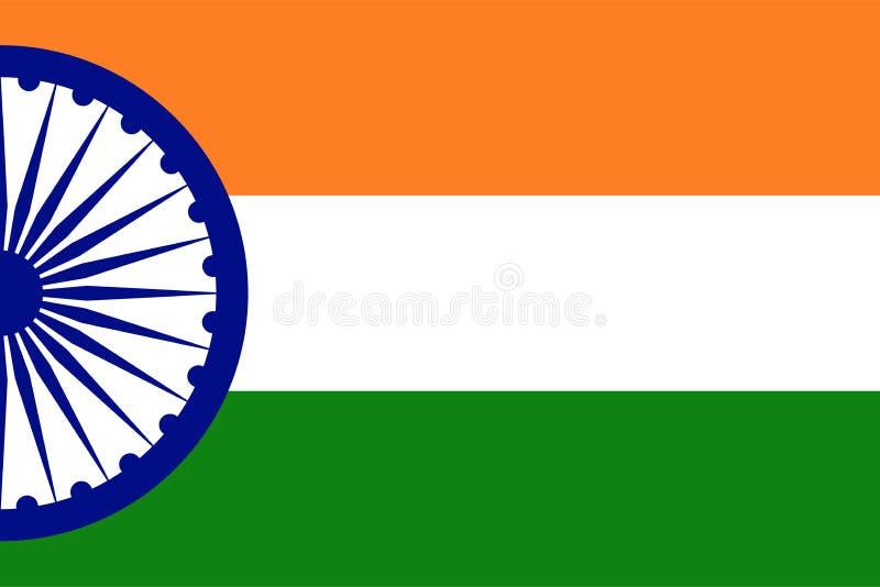 Indisk idérik vektor för banernationsflaggatema vektor illustrationer