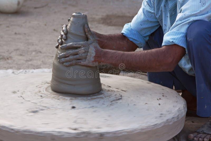 indisk keramiker arkivfoto