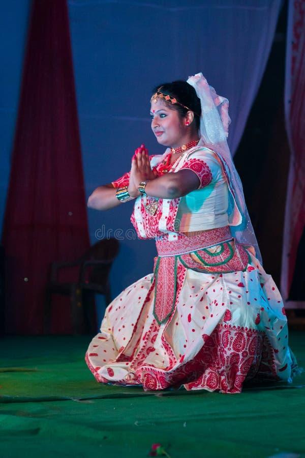 Indisk klassisk dans arkivfoto