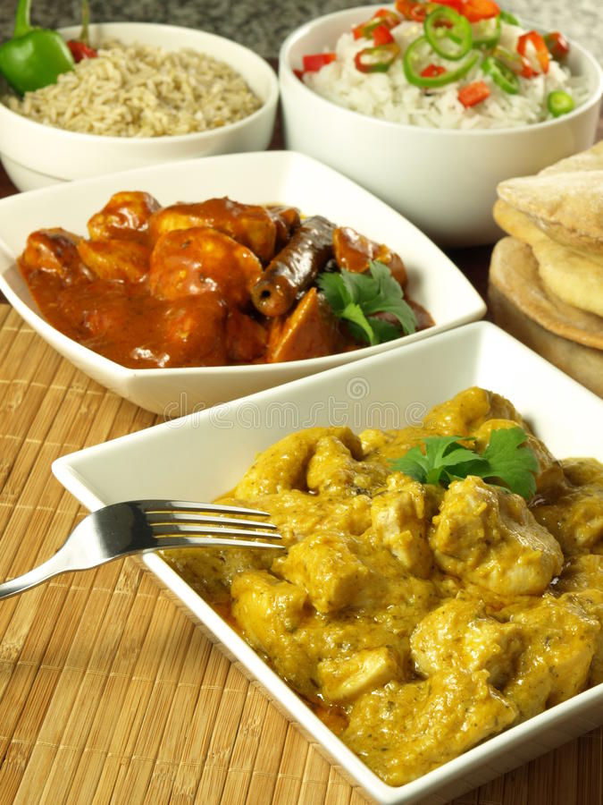 Indisk kokkonst royaltyfria foton