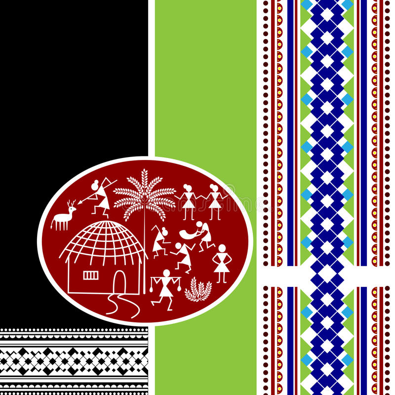 Indisk konstbakgrund vektor illustrationer