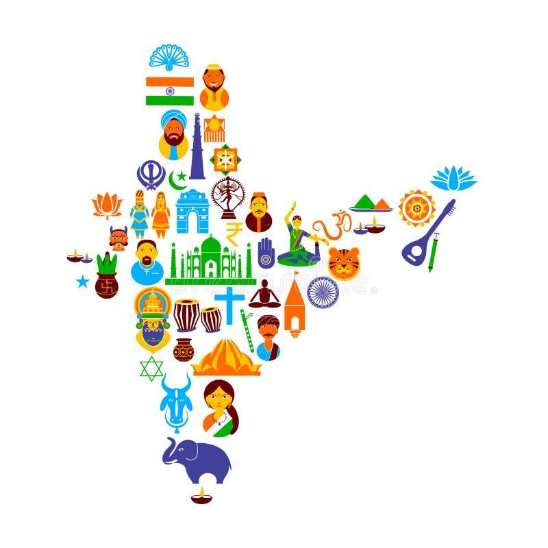 Indisk kultur stock illustrationer