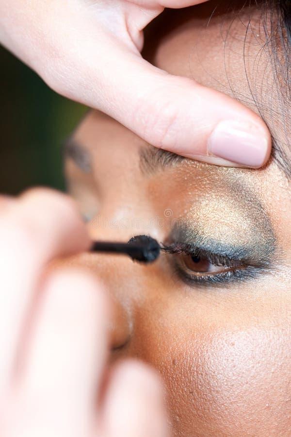 indisk makeupmodell för öga arkivbilder