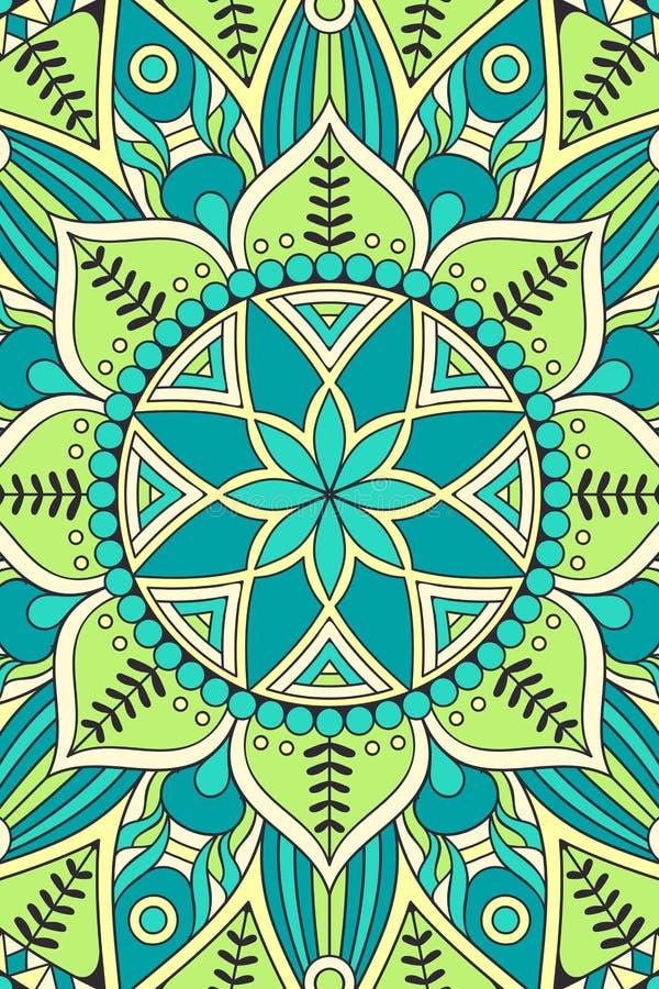 Indisk Mandalabakgrund för vektor royaltyfri illustrationer