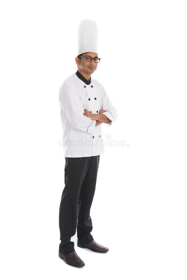 Indisk manlig kock arkivfoton