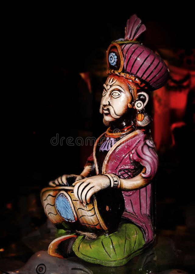 Indisk manlig skulptur royaltyfri foto