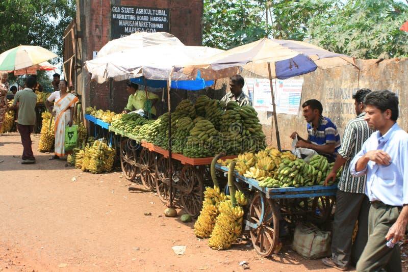 indisk marknad arkivbild