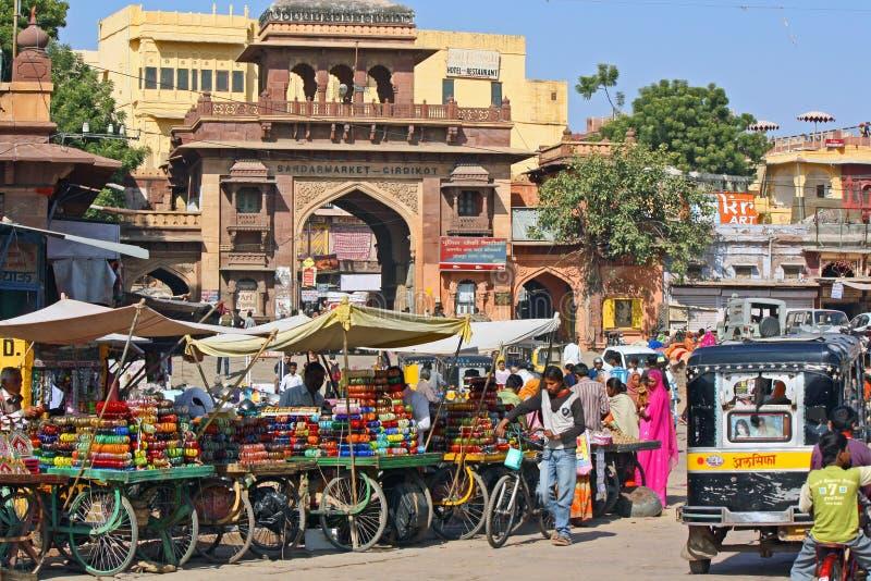 indisk marknadsgata royaltyfri fotografi