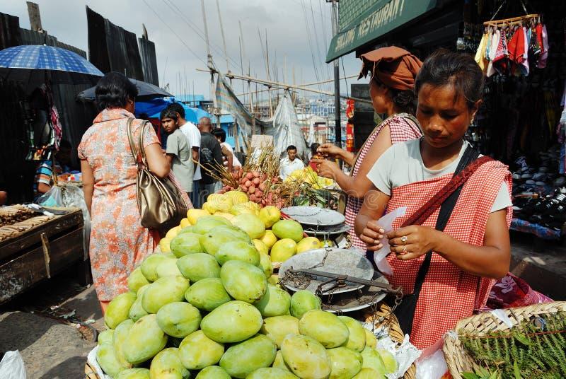 indisk marknadsplats arkivbild