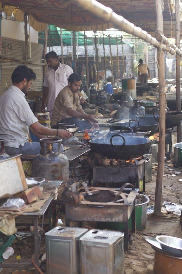 Indisk matlagningstil royaltyfria foton