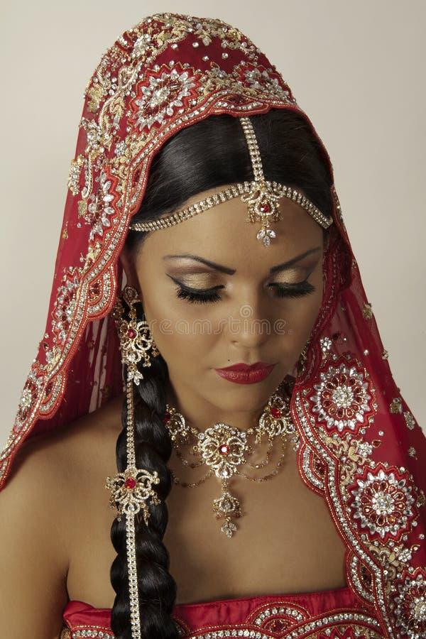 indisk modell royaltyfri foto