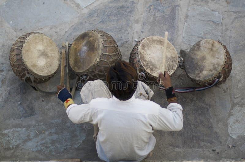 indisk musiker royaltyfri bild