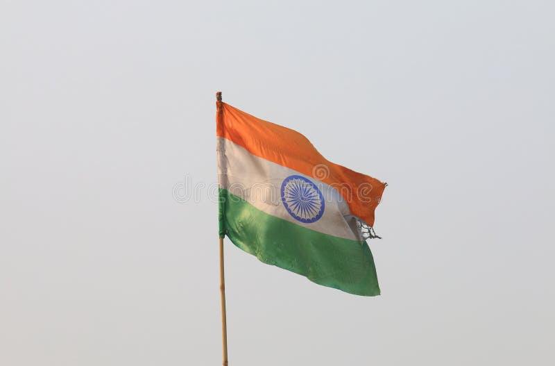 indisk national för flagga royaltyfri fotografi