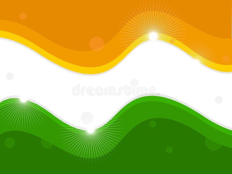 indisk national för flagga vektor illustrationer