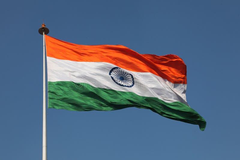 indisk national för flagga royaltyfria bilder