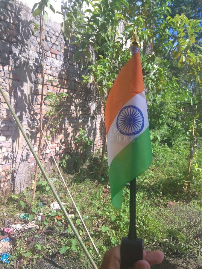 indisk national f?r flagga royaltyfri foto