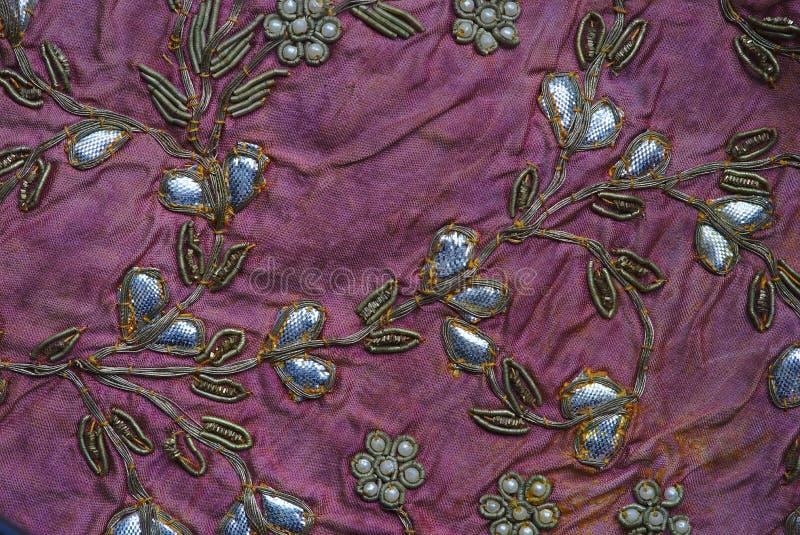 Indisk patchworkdetalj, traditionella hantverk royaltyfri fotografi