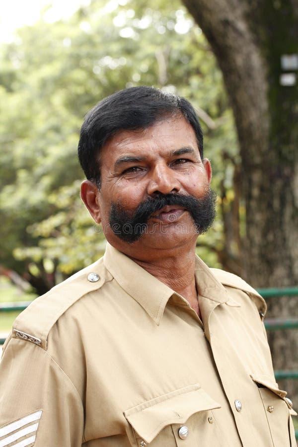 indisk polis arkivbild