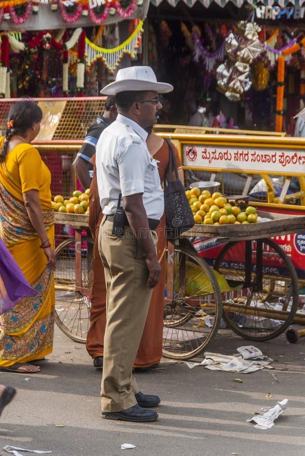 Indisk polis royaltyfria foton