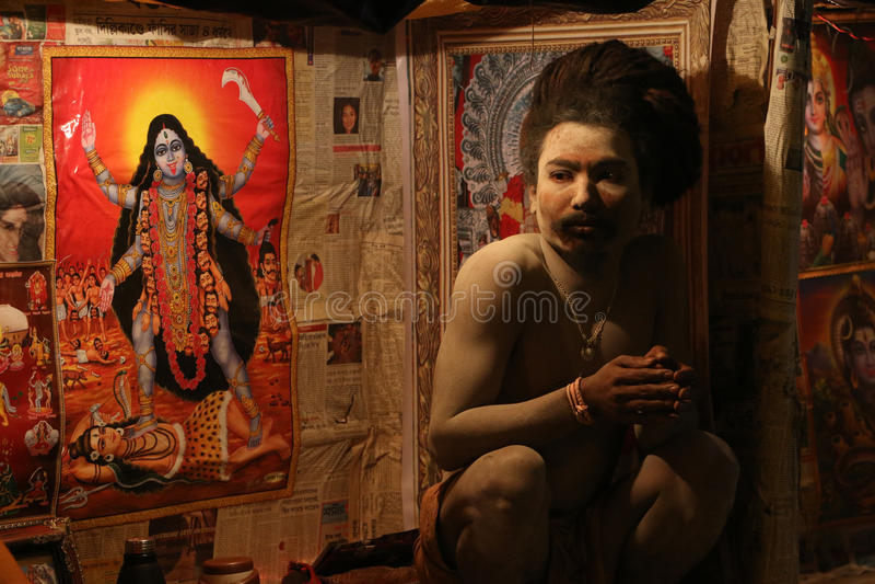 Indisk religiös framsida royaltyfri fotografi