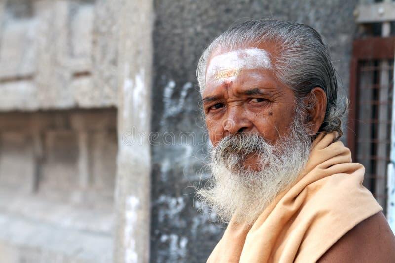 indisk sadhu arkivbild
