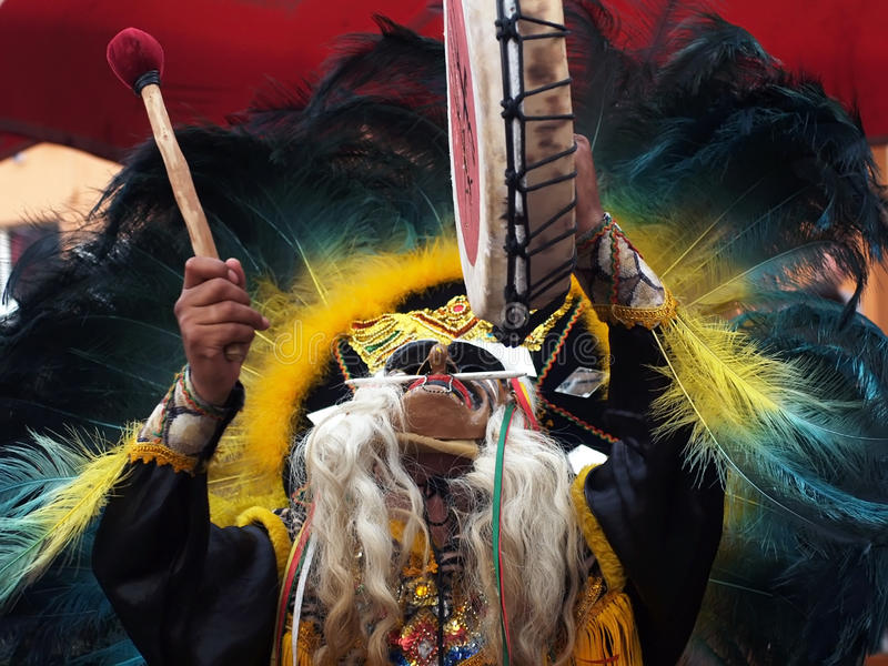 indisk shaman royaltyfria bilder