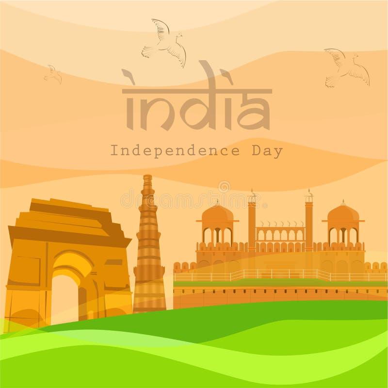Indisk självständighetsdagen stock illustrationer