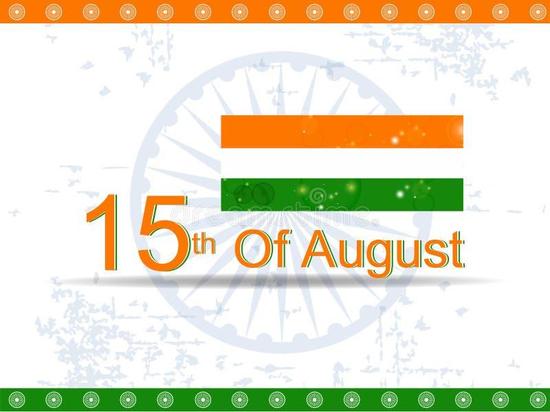 Indisk självständighetsdagenbakgrund. stock illustrationer