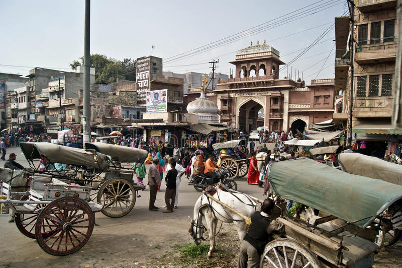 Indisk stad arkivbild