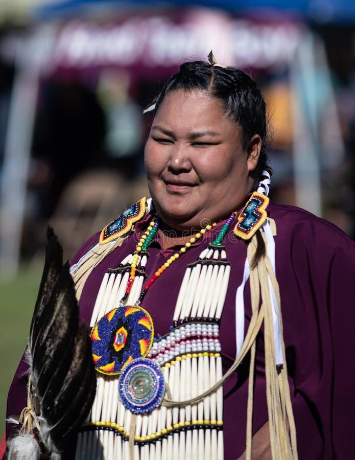 Indisk staty Santa Fe New Mexico fotografering för bildbyråer