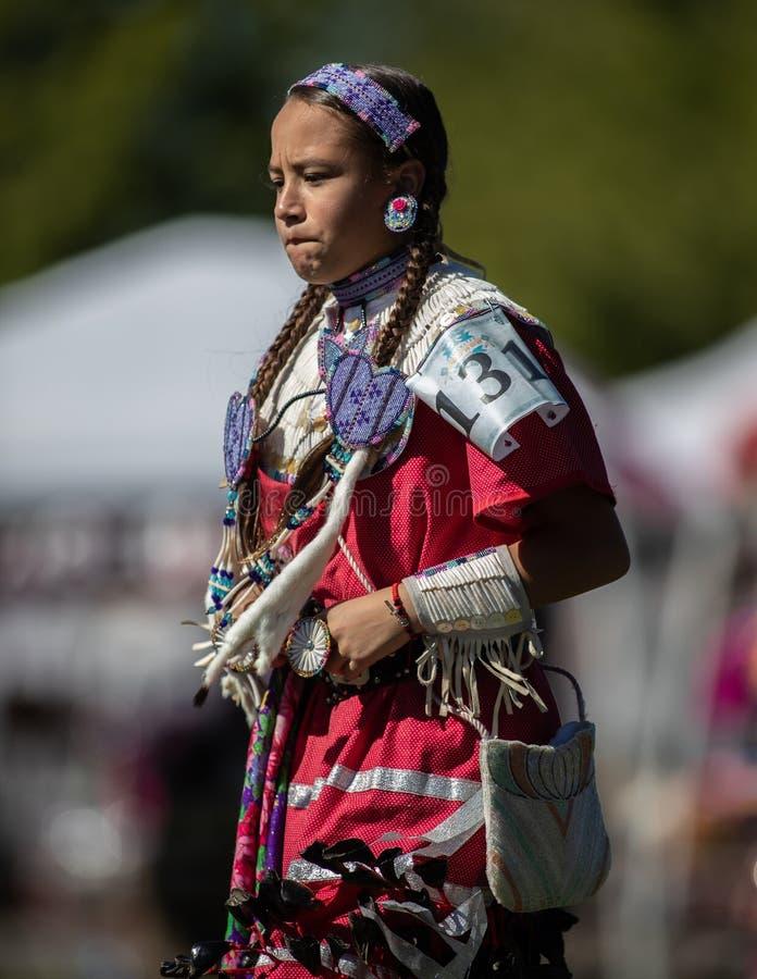 Indisk staty Santa Fe New Mexico arkivfoto
