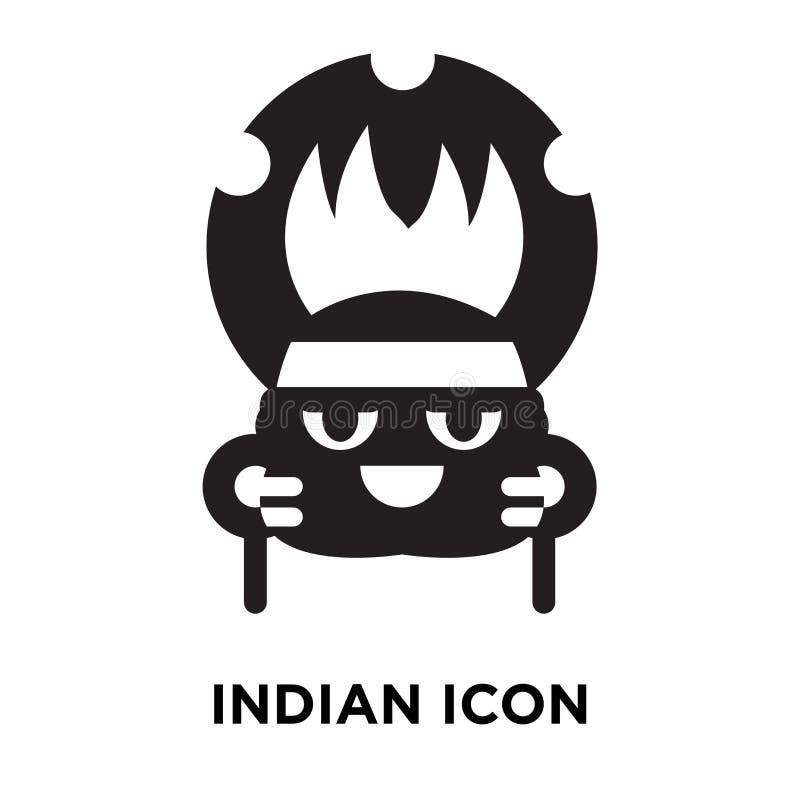 Indisk symbolsvektor som isoleras på vit bakgrund, logobegrepp av vektor illustrationer