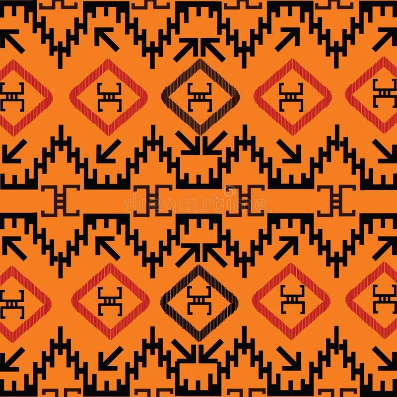 indisk textur vektor illustrationer
