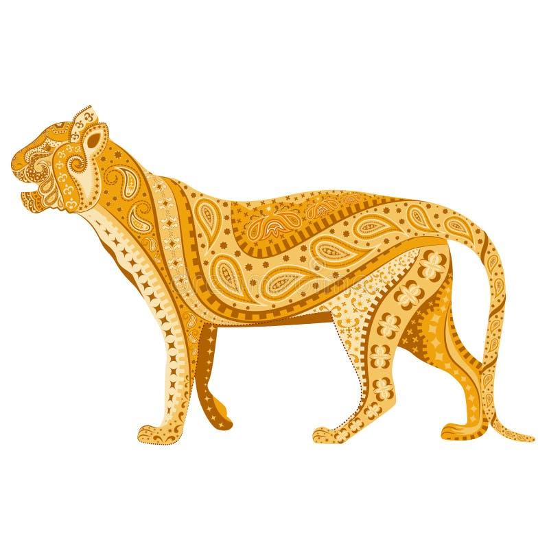 Indisk tiger vektor illustrationer