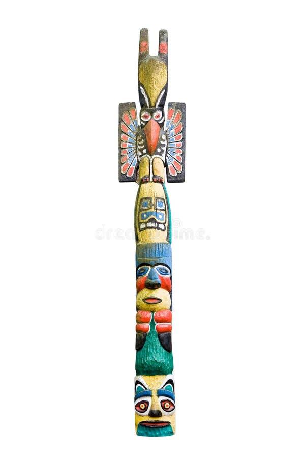 indisk totem arkivbild