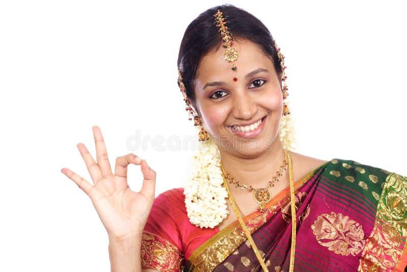 indisk traditionell kvinna royaltyfria bilder