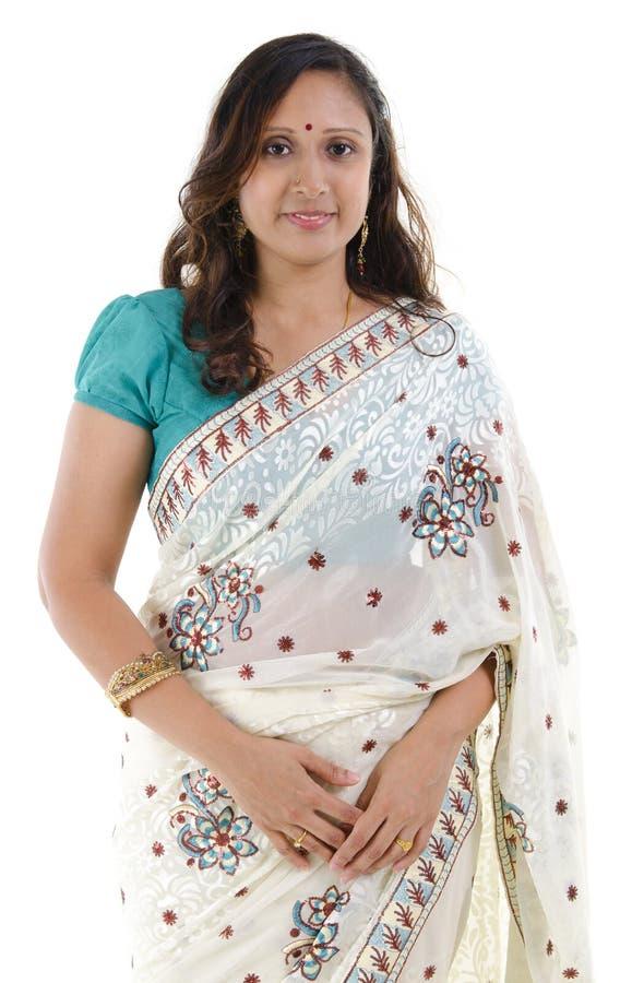 indisk traditionell kvinna arkivbild