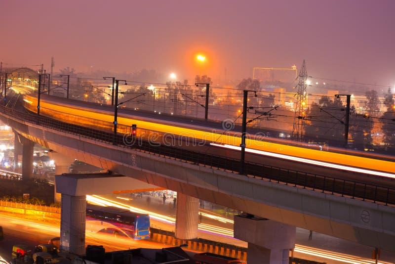 Indisk tunnelbana arkivfoton