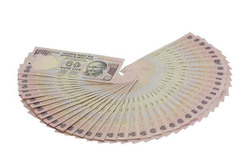 Indisk valuta arkivbilder