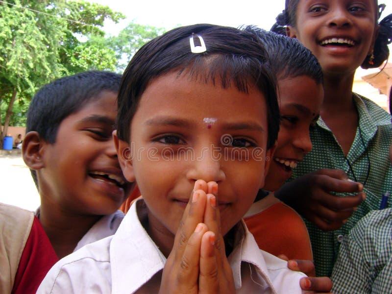 Indiska barn arkivbild