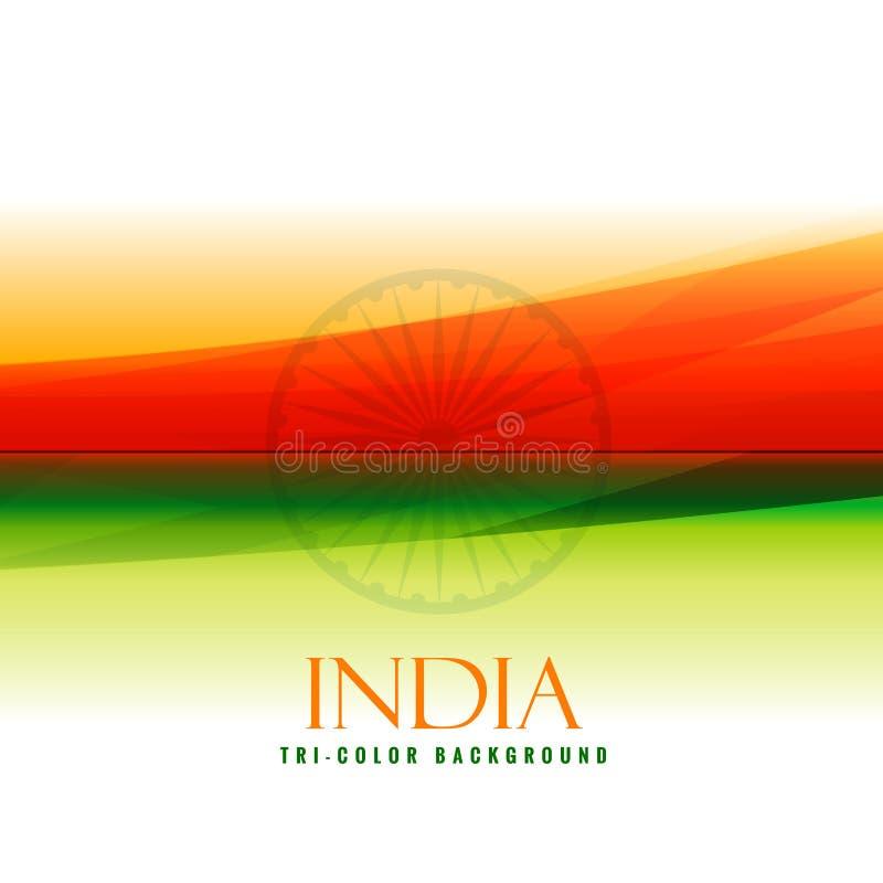 Indiska flaggafärger apelsin och gräsplanvektorn planlägger illustrationen stock illustrationer