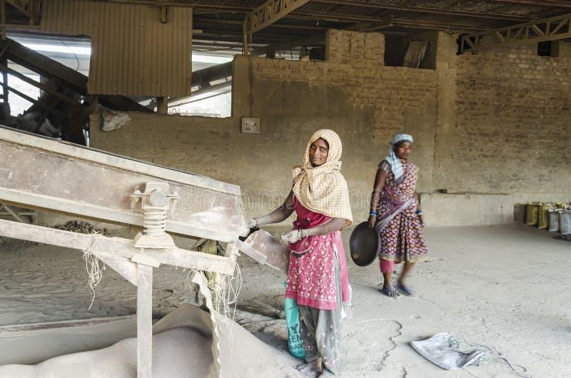 Indiska kvinnliga arbetare royaltyfri bild