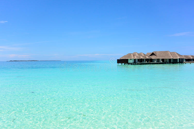 Indiska oceanen i Maldiverna royaltyfri fotografi