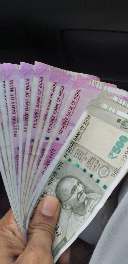 Indiska rupier pengar 2019 är makt royaltyfri fotografi