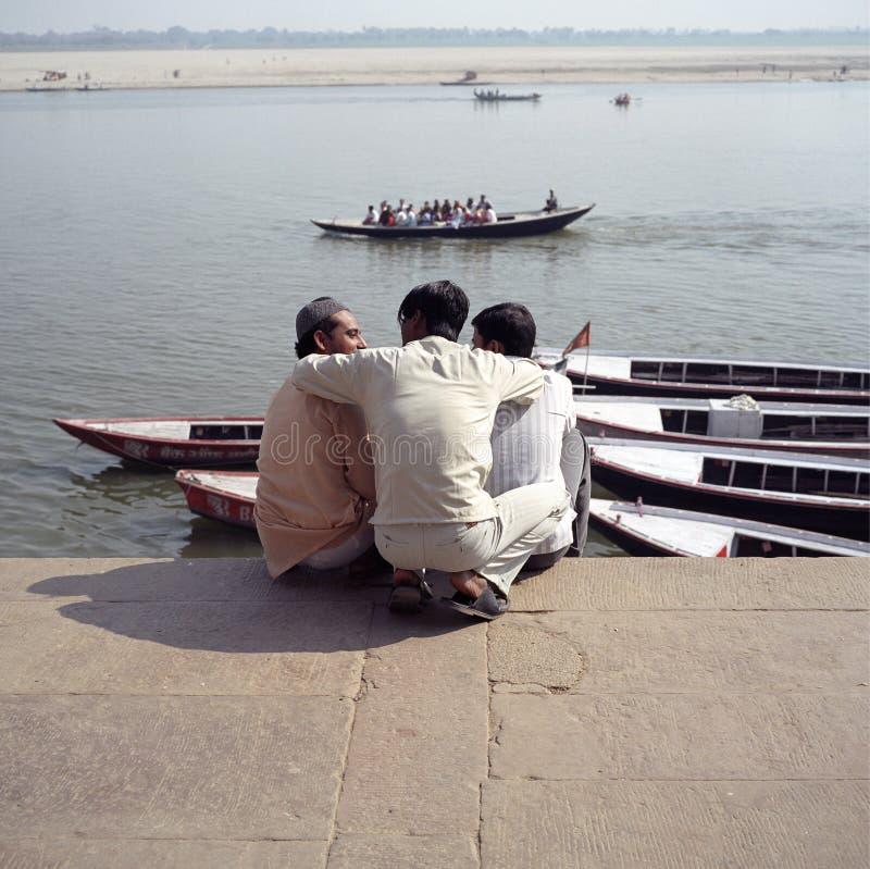 indiska vänner royaltyfria foton