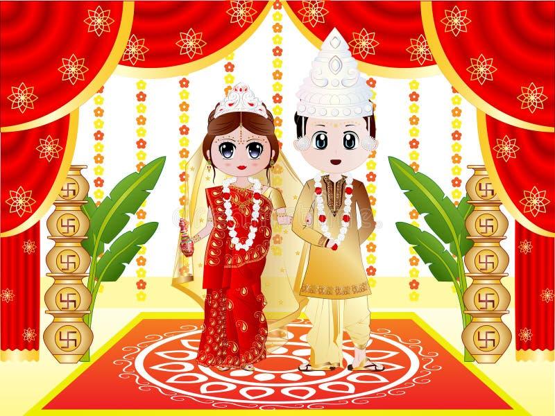 Indiskt Bengali bröllop