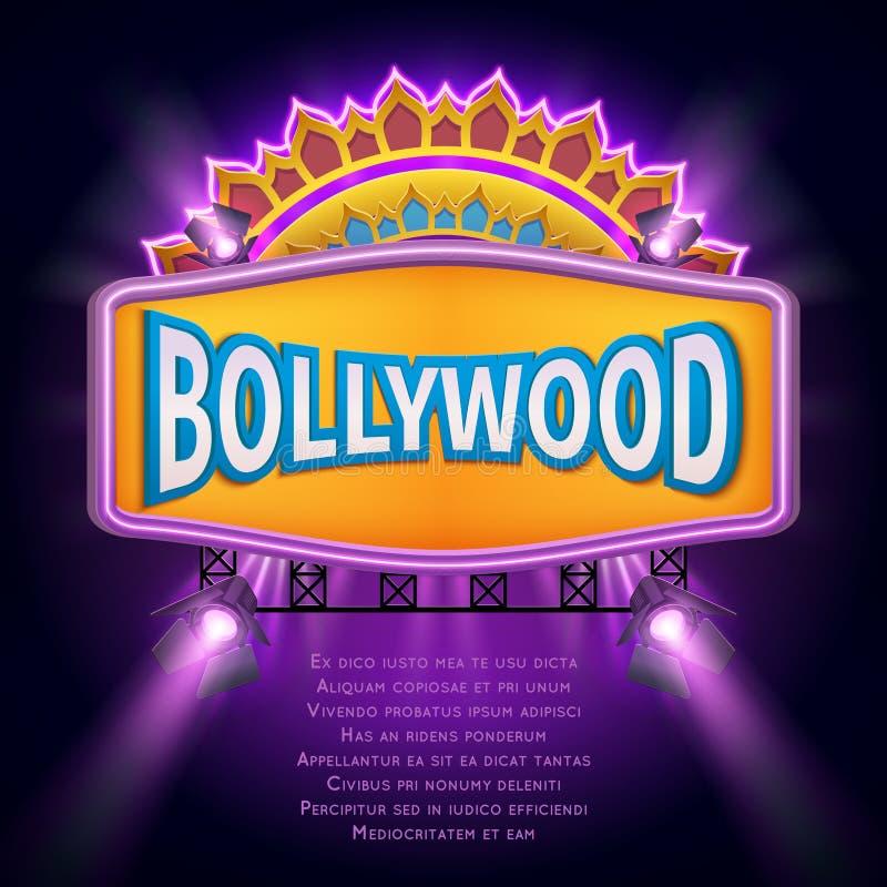 Indiskt bräde för tecken för bollywoodbiovektor stock illustrationer