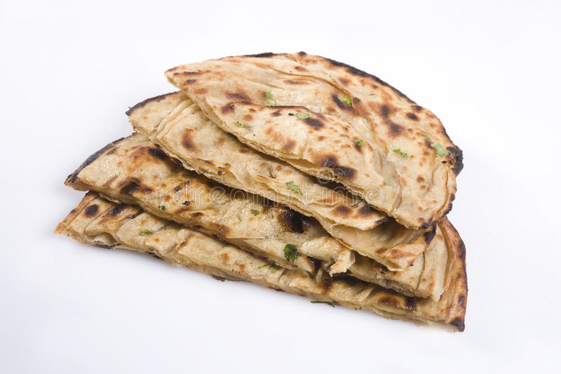 Indiskt bröd eller Lachha Paratha royaltyfria bilder