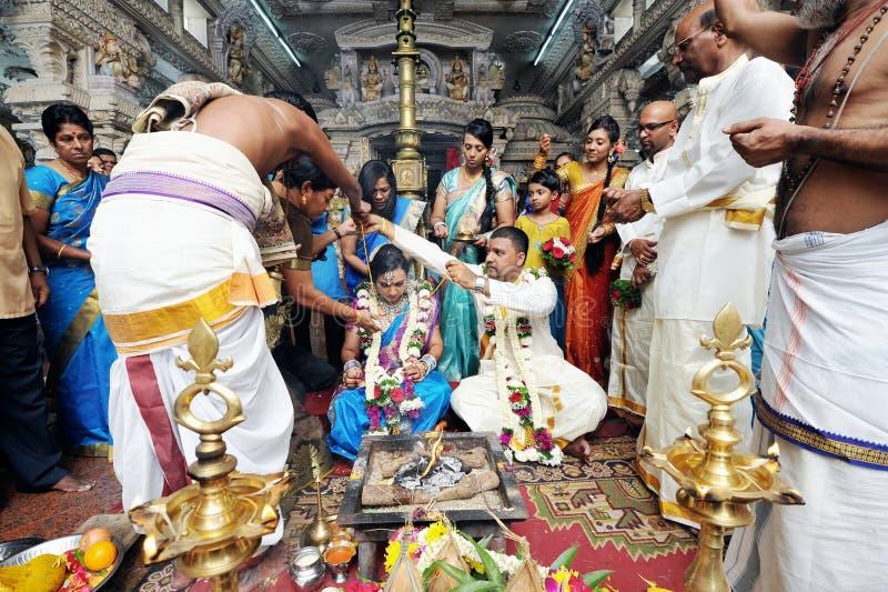 Indiskt bröllop royaltyfri foto